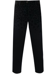 Kolor Cropped Leopard Print Trousers Blue