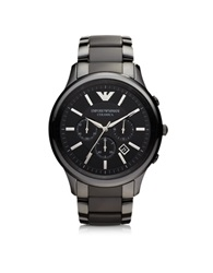 Emporio Armani Renato Black Ceramic And Stainless Steel Men's Watch