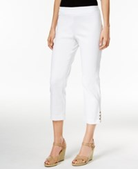 Jm Collection Lattice Hem Capri Pants Only At Macy's Bright White