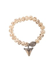 Loree Rodkin Shark Tooth Charm Bracelet Nude And Neutrals