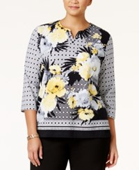 Alfred Dunner Plus Size City Life Collection Floral Print Top Multi