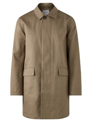 Jigsaw British Millerain Double Faced Mac Jacket Clay