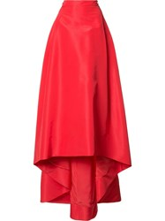 Carolina Herrera 'Faille' Skirt Red
