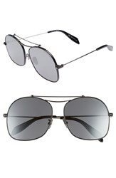Alexander Mcqueen Women's 59Mm Aviator Sunglasses Black