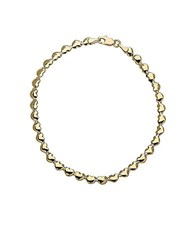 Lord And Taylor 14Kt Yellow Gold Heart Link Bracelet