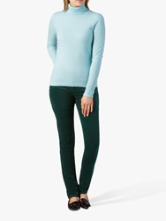 Pure Collection Washed Velvet Jeans Forest Green