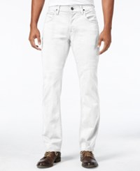 Hudson Jeans Men's Byron Straight Fit Stretch White