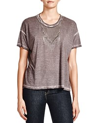 The Kooples Chain Necklace Tee Gray