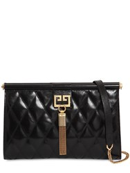 Givenchy Medium Gem Quilted Leather Clutch Black