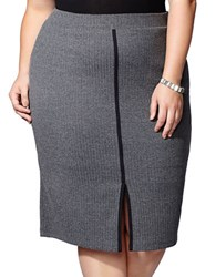 Mblm By Tess Holliday Ribbed Pencil Skirt