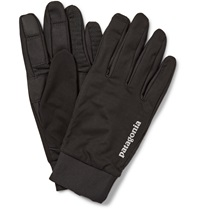 Patagonia Wind Shield Stretch Knit Gloves Black