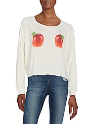 Wildfox Couture Apple Graphic Sweatshirt Pearl