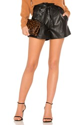 David Lerner Paperbag Belted Short Black