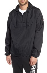 Reebok Half Zip Hooded Pullover Black