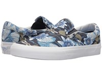 Vans Classic Slip On Dragon Floral Parisian Night True White Skate Shoes Multi