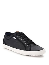 Ben Sherman Lace Up Low Top Sneakers Black
