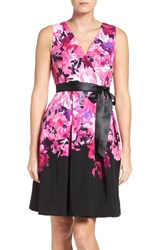 Chetta B Women's Floral Fit And Flare Dress
