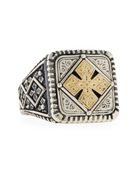 Konstantino Men's Maltese Cross Square Ring