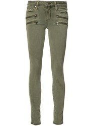 Paige Skinny Jeans Green