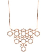 Astley Clarke Honeycomb Diamond And Rose Gold Pendant