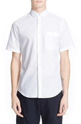 Men's Patrik Ervell 'Aircell' Trim Fit Short Sleeve Mesh Shirt