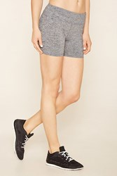 Forever 21 Active Heathered Knit Shorts
