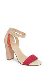 Botkier Gianna Ankle Strap Sandal Pale Peach Suede