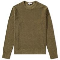Ymc Terry Stripe X Crew Sweat Green