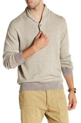 Agave Harrison Long Sleeve Shawl Collar Fine Pullover Beige