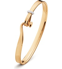 Georg Jensen Torun 18Ct Rose Gold And Diamond Bangle