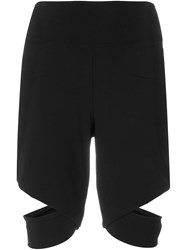 Lost And Found Cut Out Fitted Shorts Black