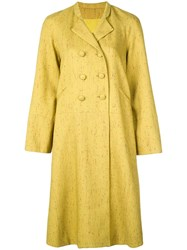 Rosie Assoulin Double Breasted Coat Green