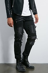 Forever 21 Victorious Distressed Jeans Black