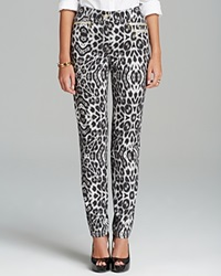 Basler Julienne Animal Print Jeans Black