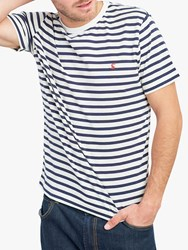 Joules Boathouse Striped T Shirt Cream Navy