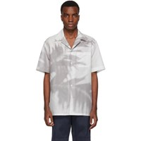 Brioni Grey Palm Tree Shirt