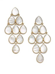 Ippolita Polished Rock Candy Mother Of Pearl And 18K Yellow Gold Cascade Chandelier Earrings