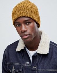New Look Beanie In Yellow Marl
