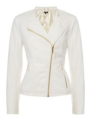 Episode Pu Biker Jacket White