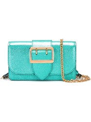 Burberry Metallic Shoulder Bag Blue