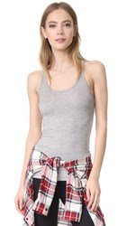 Splits59 Ashby Rib Racer Back Performance Tank Light Heather Grey
