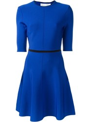 Victoria Victoria Beckham Open Back Detail Skater Dress Blue