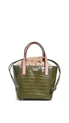 Frances Valentine Moxy Tote Olive Pink