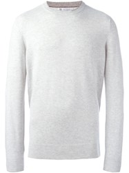Brunello Cucinelli Crew Neck Sweater Grey