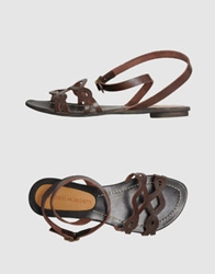 Francesco Morichetti Sandals Dark Brown