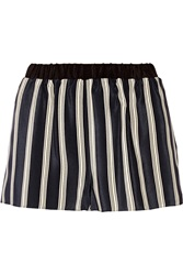 Mason By Michelle Mason Striped Silk Shorts