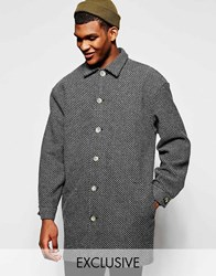 Reclaimed Vintage Cocoon Coat Grey