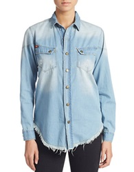 Lee Cooper Frayed Hem Chambray Shirt Simply Best