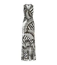 Just Cavalli Zebra Print Racer Back Maxi Dress Female Multi