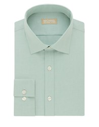 Michael Michael Kors Regular Fit Herringbone Dress Shirt Mint